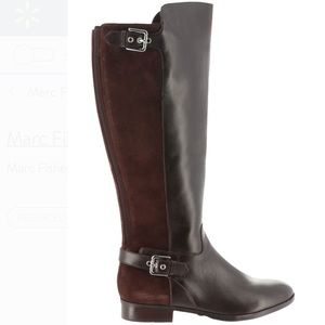 Marc Fisher Wide Brown Tall Leather Boots Damsel